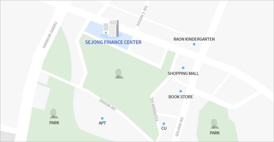 Government Complex-Daejeon map - See below for details.