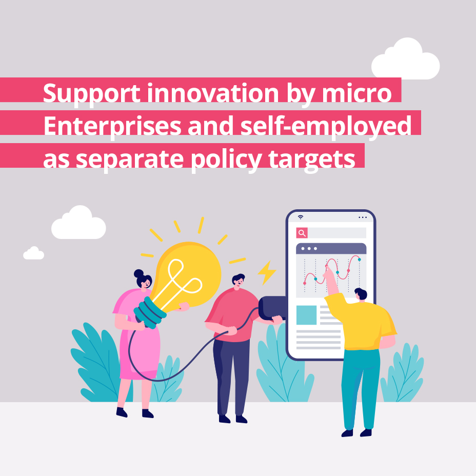 Support innovation by micro Enterprises and self-employed as separate policy targets