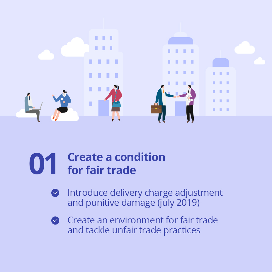 01 Create a condition for fair trade / 
