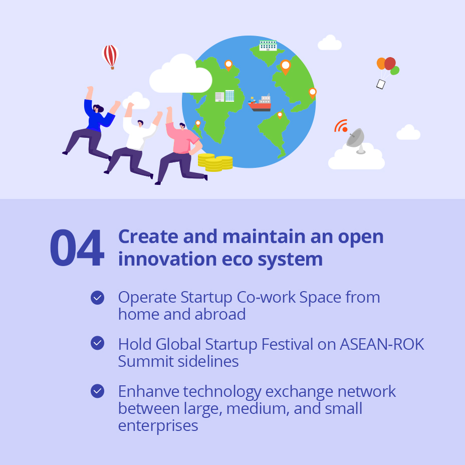 04 Create and maintain an open innovation eco system / 