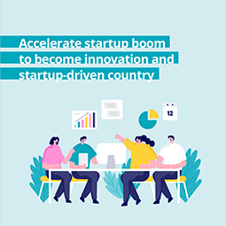 Accelerate startup boom to become innovation and startup-driven country